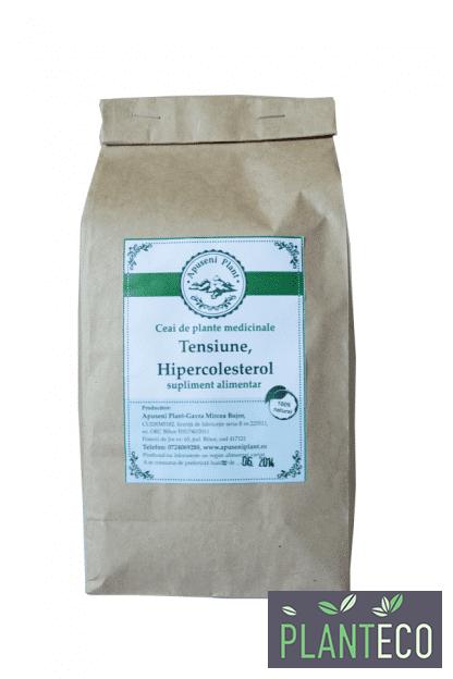 Ceai de Plante Medicinale pentru Tensiune, Hipercolesterol, 200g, Apuseni Plant