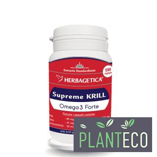 Krill Oil Supreme Omega 3, 30 capsule, Herbagetica