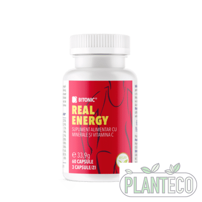 Real Energy, complex NATURAL de minerale organice, 60 cps, Bitonic