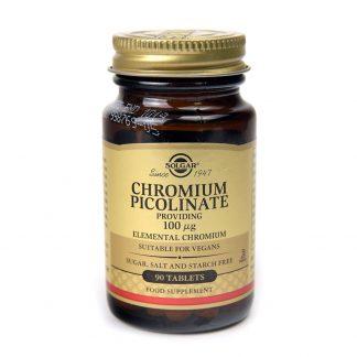 Picolinat de Crom (Chromium Picolinate) 100mg, 90 tablete, Solgar