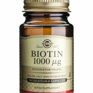 Biotin 1000mcg, 50cps, Solgar