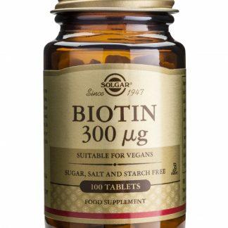 Biotin 300mcg, 100 tablete, Solgar