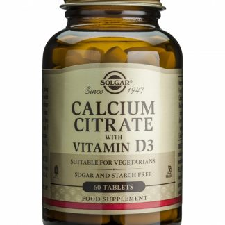 Calcium Citrate 250mg cu Vitamin D3, 60 tablete, Solgar