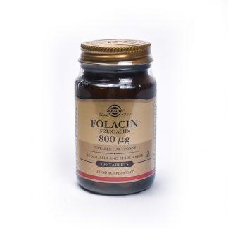 Folacin (Folic Acid) 800ug, 100cps, Solgar
