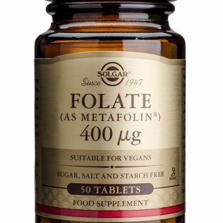 Folate (As Metafolin) 400mcg, 50 tablete, Solgar