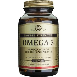 Omega-3 Double Strength softgels, 60cps, Solgar