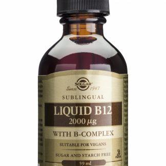 Vitamina B-12 2000ug cu B-Complex, 59ml, Solgar