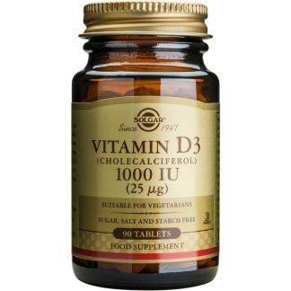 Vitamina D3 1000 IU, 90cpr, Solgar