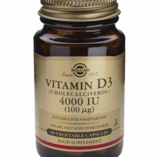 Vitamina D3 4000 IU veg.caps, 60cps, Solgar