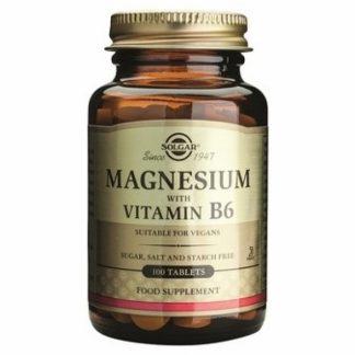Magnesium + Vitamina B-6, 100cps, Solgar
