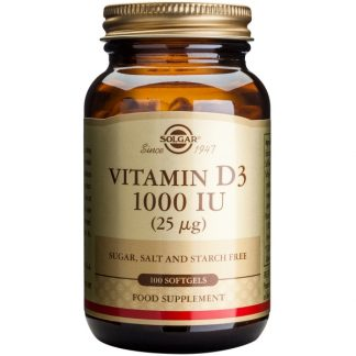 Vitamina D3 1000 IU softgels, 100cps, Solgar