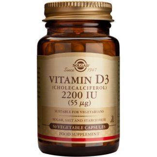 Vitamina D3  2200 IU veg.caps, 50cps, Solgar