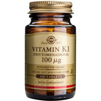 Vitamina K1 100mcg, 100 tablete, Solgar