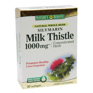 Silymarin Milk Thistle, 1000mg, 30cps, Walmark
