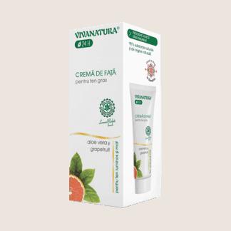 Crema de Fata pentru Ten Gras cu Aloe Vera, 75ml, Viva Natura