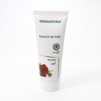 Masca de fata cu Trandafir si Argila, 75ml, Viva Natura