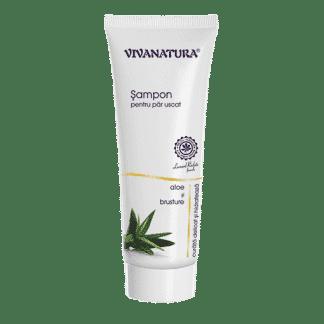 Sampon Natural cu Aloe si Brusture, Par Uscat, 250ml, Viva Natura