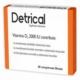 Detrical, Vitamica D3 2000 IU, 60cpr, Zdrovit