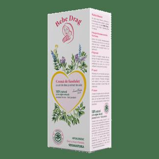 Crema de Fundulet cu Unt de Shea si Extract de Ovaz, 75ml, VivaNatura