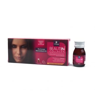 Beautin Collagen Lichid Kit 5 Monodoze cu Mango si Pepene Galben + Magneziu, 5*30ml, Myelements