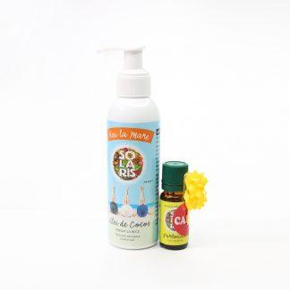 "Pachet ""Hai la Mare"" Ulei de Cocos + Ulei Esențial Portocale 10 ml (Cadou), Solaris"