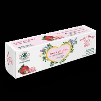 Pasta de Dinti cu Argila si Capsuni, 50ml, VivaNatura