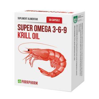 Super Omega 3-6-9 Krill Oil, 30 cps, Parapharm