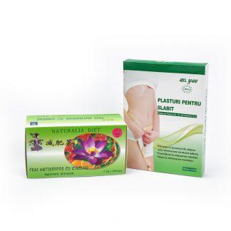 Plasturi Pentru Slabit + Ceai Antiadipos cu Ginseng, Naturalia Diet