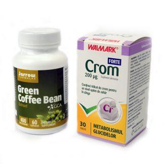 PACHET PIERDE POFTA DE MANCARE Cafea verde + Crom forte