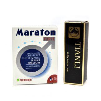 PACHET Maraton forte 20 capsule + Tianli Spray 10 ml