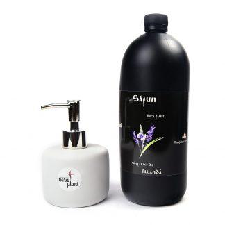 PACHET Sapun Lichid cu Extract de Lavanda 1000ml + Dispenser, Nera Plant