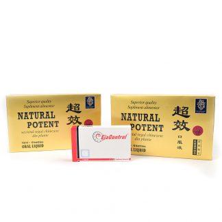 PACHET Natural Potent 12 fiole + EjaControl 4 cps, Naturalia Diet