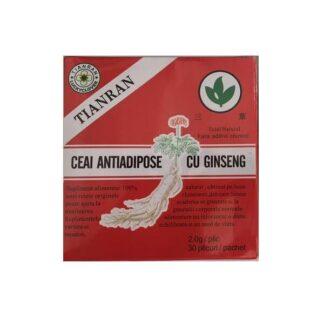 Ceai Antiadipos cu Ginseng Rosu, 30 plicuri, Sanye Intercom
