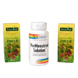 Pachet Premestrual, Premestrual Solution + Extract din mladite de zmeur