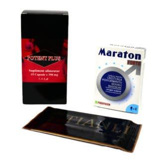 PACHET Potent Plus 15 cps + Maraton Forte 4 cps + Tianli servetele Umede 10 buc