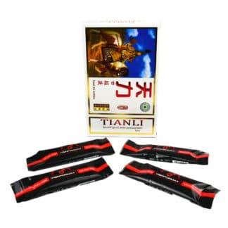 PACHET Tianli 4 fiole + Miere pentru Potenta 4 pliculete + 4 servetele cadou