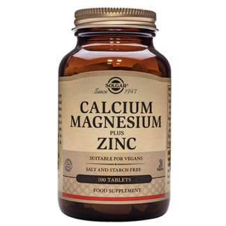 Calcium Magnesium plus Zinc, 100 tablete, Solgar