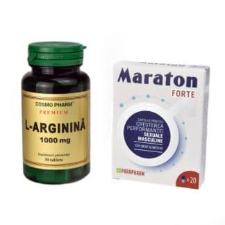 Pachet Maraton Forte 20 capsule + L-Arginina 1000 mg 30tb