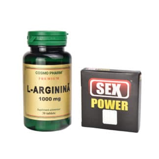 Pachet Sex Power 1 cps + L-Arginina 1000mg 30 tb