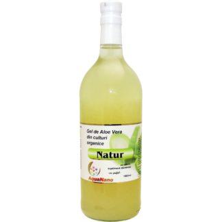 Gel de Aloe Vera din Culturi Organice cu pulpa, 1 litru, Aquanano