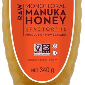 Miere de Manuka KFactor 16 RAW - Squeezy  340g, Wedderspoon