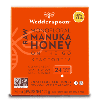 Miere De Manuka KFactor 16 RAW - 24 plicuri x 5g, Wedderspoon