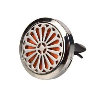 Difuzor auto 3 cm pentru uleiuri esentiale argintiu, model spin , Planteco
