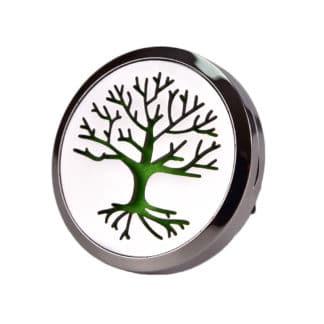 Difuzor auto 3.8 cm pentru uleiuri esentiale argintiu tree life , Planteco