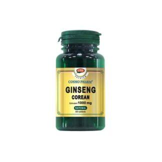 Ginseng Corean 1000 mg, 60 tb, CosmoPharm