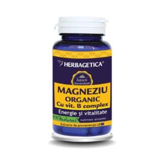 Magneziu Organic cu vit. B Complex, 60cps, Herbagetica