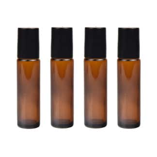 Set 4 sticle  pentru uleiuri esentiale, 5 ml, Planteco