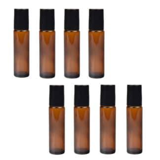 Set 8 sticle  pentru uleiuri esentiale, 5 ml, Planteco