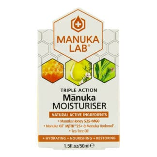 Crema hidratanta MANUKA LAB® cu miere de Manuka MGO 525+, ulei de Manuka MBTK 25+ si ulei de Tea Tree, 50 ml, naturala