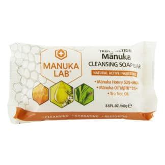 Sapun MANUKA LAB® cu miere de Manuka MGO 525+, ulei de Manuka MBTK 25+ si ulei de Tea Tree, 100 g, natural